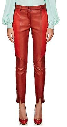 Givenchy Women's Colorblocked Leather Pants - Red