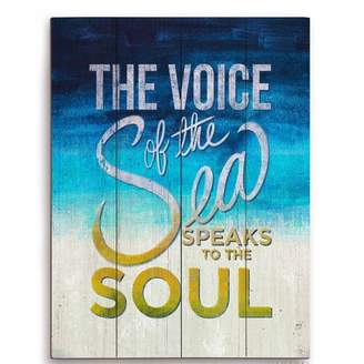 Click Wall Art The Voice of the Sea Speaks to the Soul Textual Art Plaque