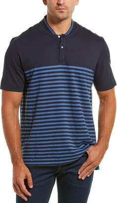 Dunhill Links Baseball Linen-Blend Polo
