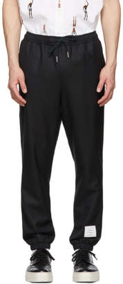Thom Browne Navy Twill Track Trousers