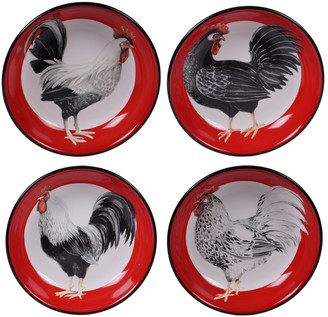 Certified International Homestead Rooster 4-pc. Soup Bowl Set