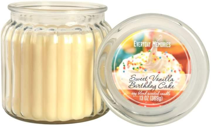 Everyday Memories Sweet Vanilla Birthday Cake 13-oz. Candle Jar