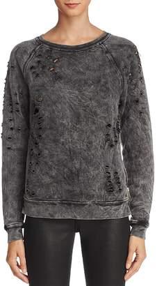Black Orchid Distressed Side Zip Sweatshirt