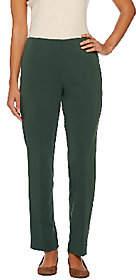 Susan Graver Milano Knit Hollywood Waist ZipFront Pants