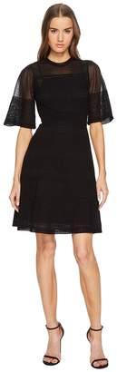 M Missoni Rib Stitch Dress with Sheer Detail Women's Dress