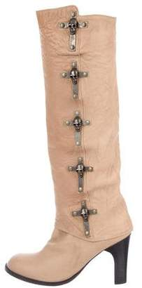 Thomas Wylde Skull Cross Knee Boots