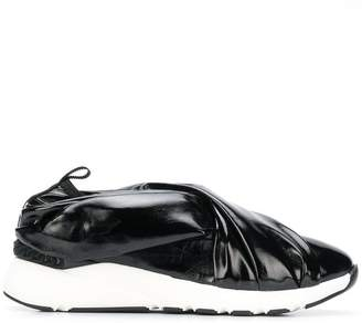 Casadei padded strap slip-on sneakers