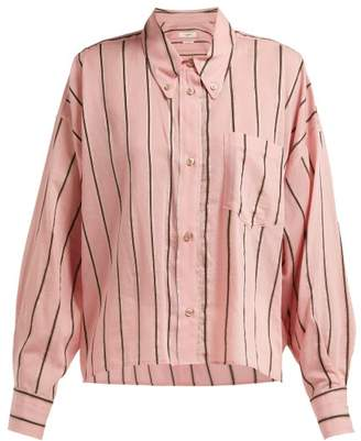 Etoile Isabel Marant Ycao Striped Cotton Blend Shirt - Womens - Pink