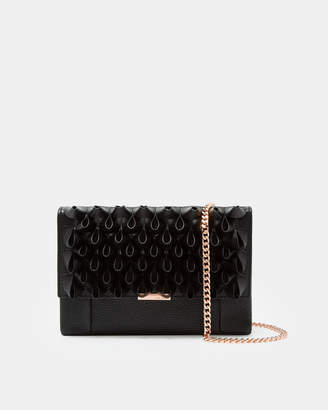 Ted Baker LILIIA Loop frill leather cross body bag