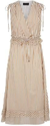 Robert Rodriguez Cotton Stripe Midi Dress