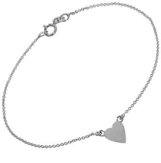 Jennifer Meyer Heart Chain Bracelet - White Gold