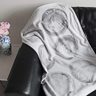 Rianna Phillips Black And White Personalised Blanket Throw