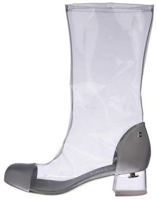 Chanel 2018 Waterfall Cap-Toe Boots