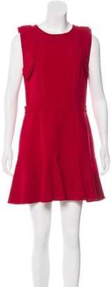 Miu Miu Ruffle-Accented Mini Dress
