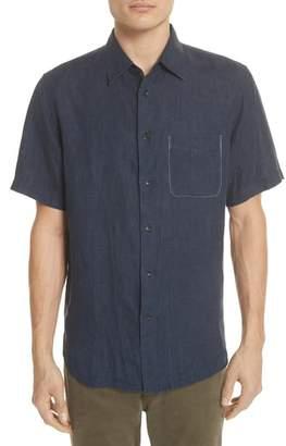 Rag & Bone Fit 3 Short Sleeve Linen Sport Shirt