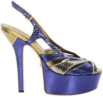 Gucci Metallic Leather Heels