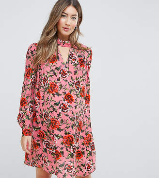 Asos Floral Smock mini dress