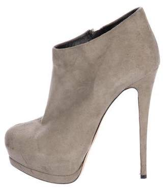 Womens Topstitched Suede Platform Ankle Booties Giuseppe Zanotti 5alvW