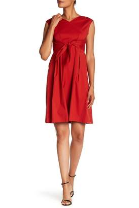 Lafayette 148 New York Ximena Tie Waist Dress (Petite)