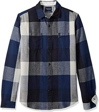 Scotch & Soda Men's Summery Chunky Shirt in Checks and Stripes in Broken Twill Qua