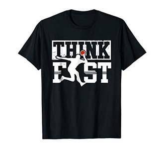 Think Fast Funny Ping Pong Shirt Table Tennis Player T shirt