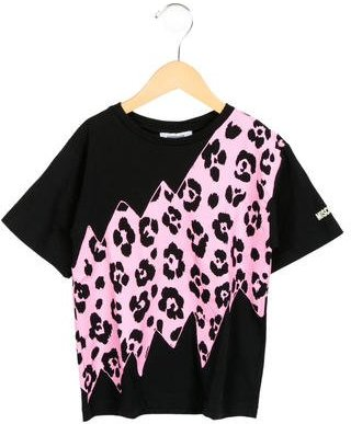 Moschino Girls' Leopard Print Crew Neck T-Shirt $45 thestylecure.com