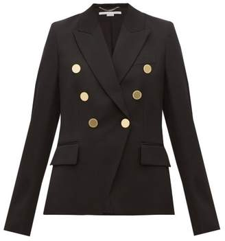 Stella McCartney Double Breasted Wool Blazer - Womens - Black