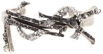 Saint Laurent Crystal-embellished Monogram cuff