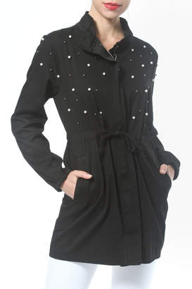 Co Madonna & Pearl Trim Trench