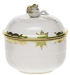 Princess Victoria Green Covered Sugar Bowl