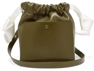 Sophie Hulme Knot Leather Crossbody Bag - Womens - Khaki Multi