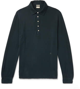 Massimo Alba Cotton And Cashmere-Blend Polo Shirt