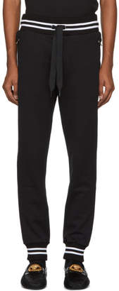 Dolce & Gabbana Black Logo Plaque Lounge Pants