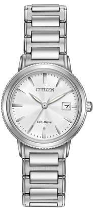 Citizen 27mm Silhouette Sport Bracelet Watch, Silver/White