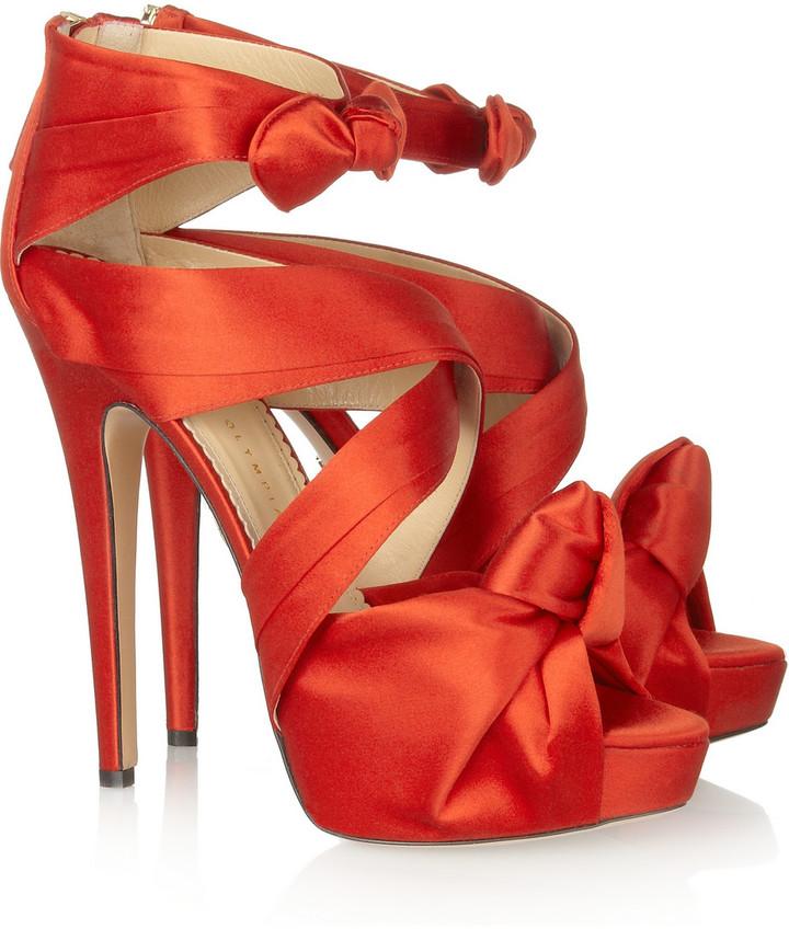 Charlotte Olympia Andrea satin sandals