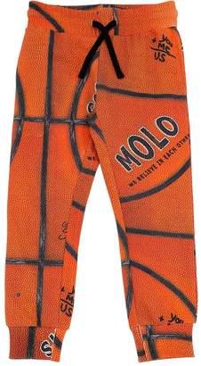 Molo Basketball Print Cotton Sweatpants