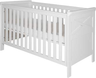 House of Fraser Kidsmill Savona White Cot bed 70 x 140 with cross