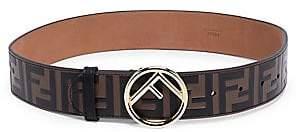 Fendi Women's Leather Logo Belt
