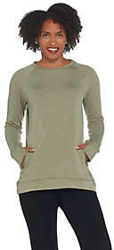 Cuddl Duds Comfortwear French Terry RaglanSleeve Pullover