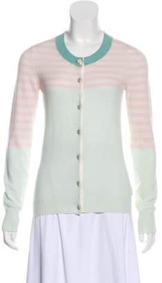 Chanel Cashmere Colorblock Cardigan Pink Cashmere Colorblock Cardigan