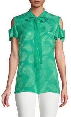 Roberto Cavalli Feather-Graphic Button-Down Shirt
