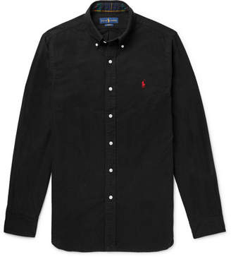 Polo Ralph Lauren Slim-Fit Button-Down Collar Brushed-Cotton Shirt