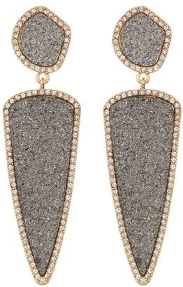 BaubleBar Moonbeam Druzy Drop Earrings