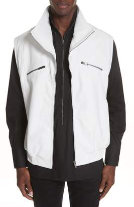 Givenchy Sleeveless Zip Leather Vest