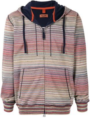 Missoni striped zip front hoodie