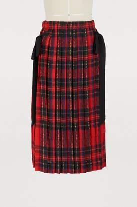 Simone Rocha Pleated midi skirt