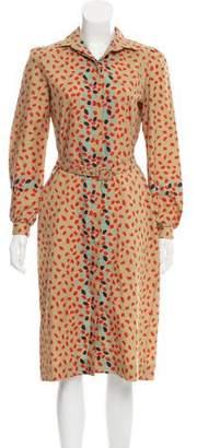 Pierre Balmain Printed Button-Up Dress