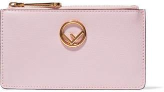 Fendi Textured-leather Cardholder - Baby pink