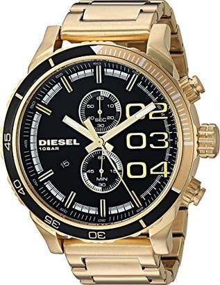 Diesel Men's DZ4337 Double Down 48 Analog Display Analog Quartz Gold Watch