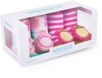 Waddle 2-Pack Pineapple Rattle Socks